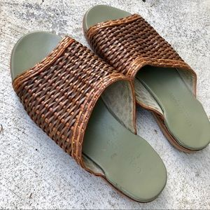 Custom made woven sandals with new leather soles 9